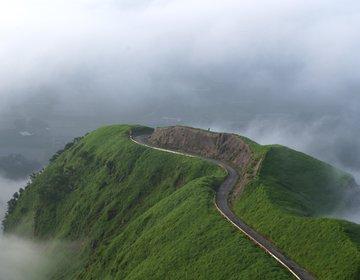 熊本 阿蘇山、ラピュタの道を見て、世界遺産・万田坑へ!【八千代座、熊本城、大観峰、あそぼーい】
