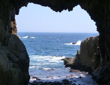 足摺岬の【万次郎足湯】から見える【白山洞門】が綺麗すぎる!