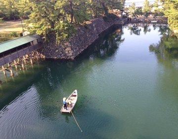 【高松城跡】タイにエサやりが驚きの優越感☆殿・姫気分で舟遊び♪1100本の松も素敵な【玉藻公園】