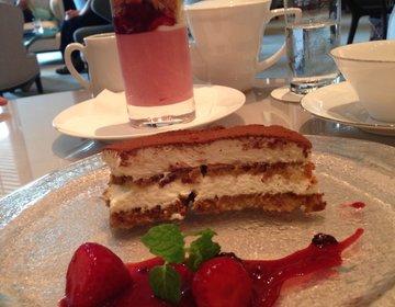 パレスホテルにあるラウンジでいちごパフェとティラミスからの日本橋コレドでアナと雪の女王❤️