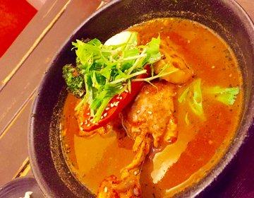 【札幌ではチキンレッグが1本入った贅沢なスープカリー】スープカリーヒリヒリ2号へ