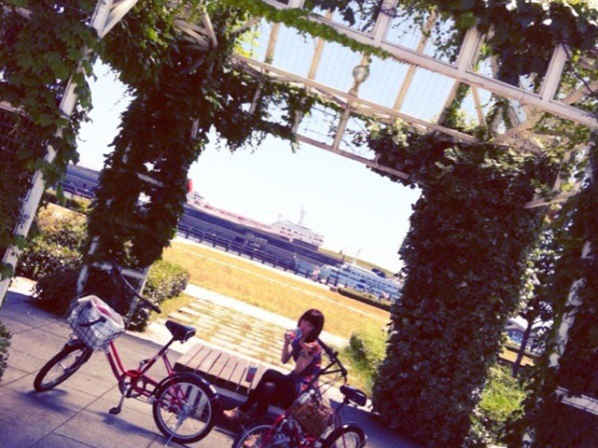 横浜、みなとみらいおすすめスポット!レンタルサイクリングデートでオシャレカフェ&夜景の見えるスパへ
