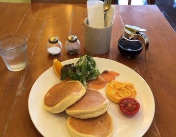 フワッフワッの極うまパンケーキ、《ビーンズカフェ》福岡西新で食べれます!