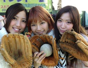 【スポーツの秋!】神宮外苑のグランドで草野球からの銀杏並木の見えるシェアードテラスでディナー♪