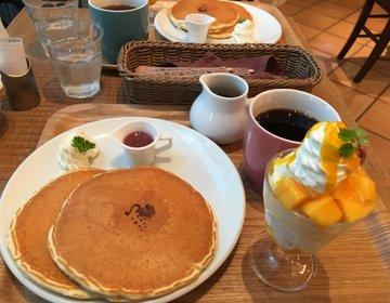 JR博多シティくうてん9階【キャンベル・アーリー】人気のパンケーキは女子が大好き♡