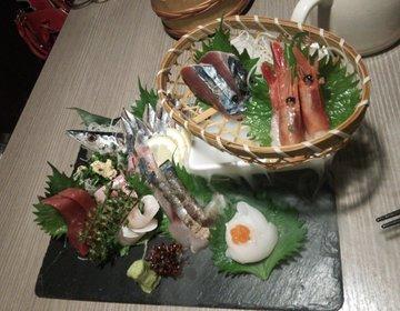 【田町駅徒歩3分の好立地】笑う門には魚来たるで絶品刺身、手羽先を食す!