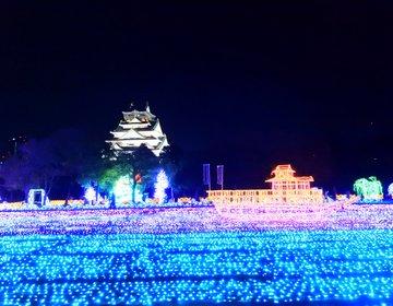 【夜・イルミ】幕末維新へタイムスリップ!大阪城下で幻想的な世界を楽しもう!花魁と記念撮影も♡