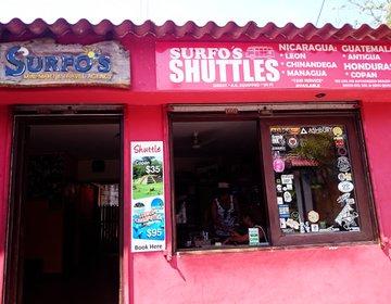 エルサルバドル、エルトゥンコの便利なショップ&コンビニ。グアテマラまでの長距離バスも。