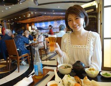 【海の上のお寿司・ランチタイムがおすすめ】ダイヤモンドプリンセス内にある有料レストラン海寿司へ
