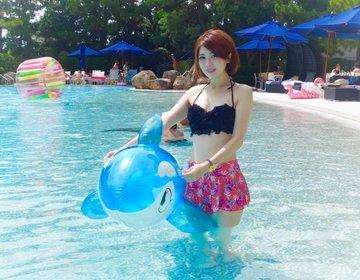 平日は安い!まるでハワイのリゾートプールがあった♡都内近郊のおすすめプール★アサイーボウルランチ!