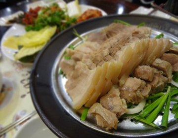 「韓国」東大門周辺のおいしい韓国料理。辛いのが苦手な人にもおすすめのポッサム。おいしい豚肉