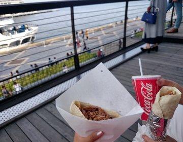 初夏は神戸旅行デート☆海を見ながら安くて美味しいケバブランチ!500円!絶景テラスで