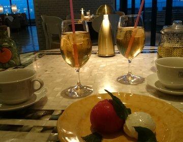 沖縄旅行【海の見えるお洒落レストラン】POSILLIPOでオーシャンビューディナー。デートや女子旅に