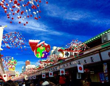 【日本の下町浅草で正月気分】日本一の人込みを楽しむ!青空の下での浅草正月観光ツアー!