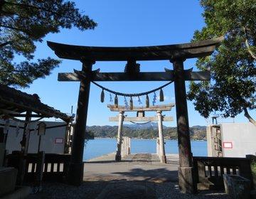海に面する鳴無神社と、武市半平太の銅像がある高知県須崎市へ!