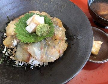 【天然】鯵ヶ沢名物!ヒラメの漬け丼!ランチを探してるのであれば、こちらがオススメです!割烹水天閣