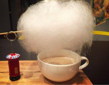 カップの上の雲から雨が降る?フォトジェニックなふわふわ雲下コーヒーが飲みたい!