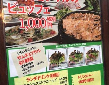 わずか1000円でサムギョプサル食べ放題!冬は韓国料理であったまろうプラン!