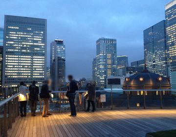 東京駅と丸の内の夜景がキレイ☆KITTEの無料 屋上庭園とレストランで、気分転換&リラックス♪