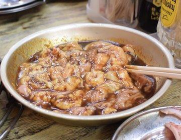 【24時間営業】柳橋中央市場にある七輪焼き!ぷりっぷり味噌とんちゃん