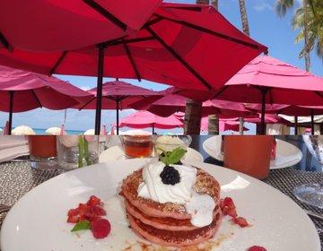 ピンクのお店でピンクのパンケーキを食べる!可愛すぎるピンクパレス♡ロイヤルハワイアン