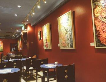 【神保町・カフェ】絵画に囲まれたお洒落カフェ「ギャラリー珈琲店 古瀬戸」