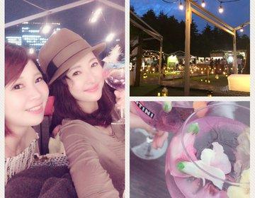 【期間限定!!プレミアムビアガーデン開催中】キラキラ光るMARTINI恋のピンクカクテルで乾杯