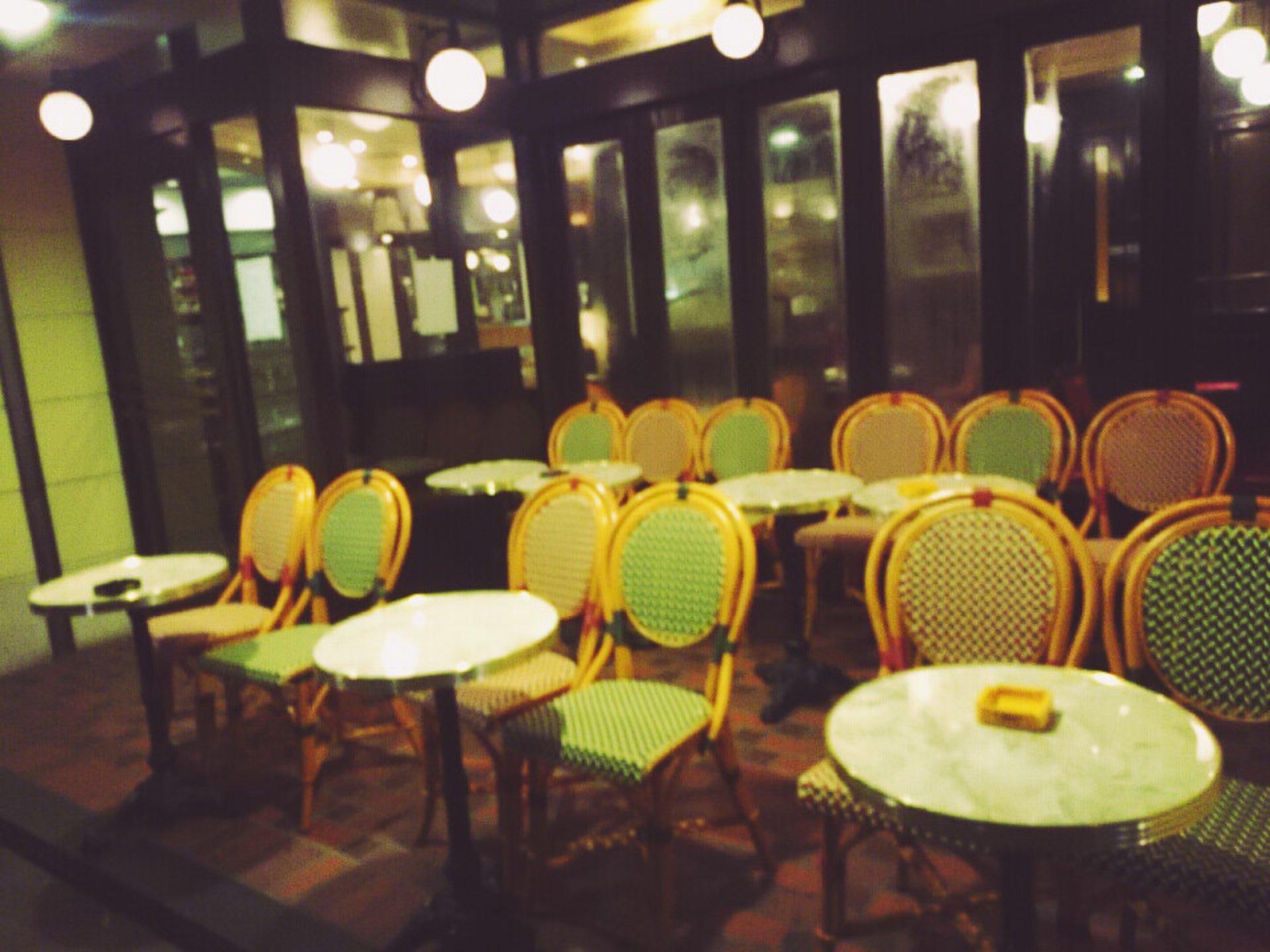 ここはパリ!?パリを再現したオープンテラス カフェで夜お茶♪オーバカナル銀座。