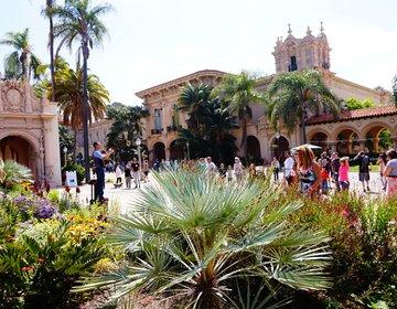 サンディエゴの大人気観光スポット。可愛い庭園バルボアパーク。ファミリーや女子旅に