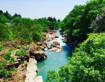 【美しいエメラルドグリーンの渓谷】岩手県に行ったら行きたい!絶景の渓谷厳美渓