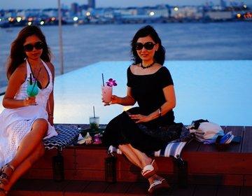 横浜で一番お洒落な夏デート。海を一望できるお洒落ルーフトップバー。The Ocean's Bar