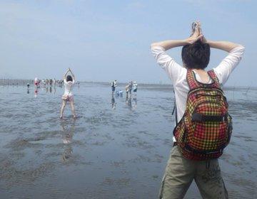 千葉県ドライブ!海に激近・駐車場の牛込海岸で「潮干狩り」からの「木更津アウトレット」♡