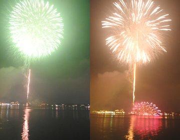 河口湖花火大会。8月5日土曜日【なんと!人少ないから見放題】「2017河口湖湖上祭」