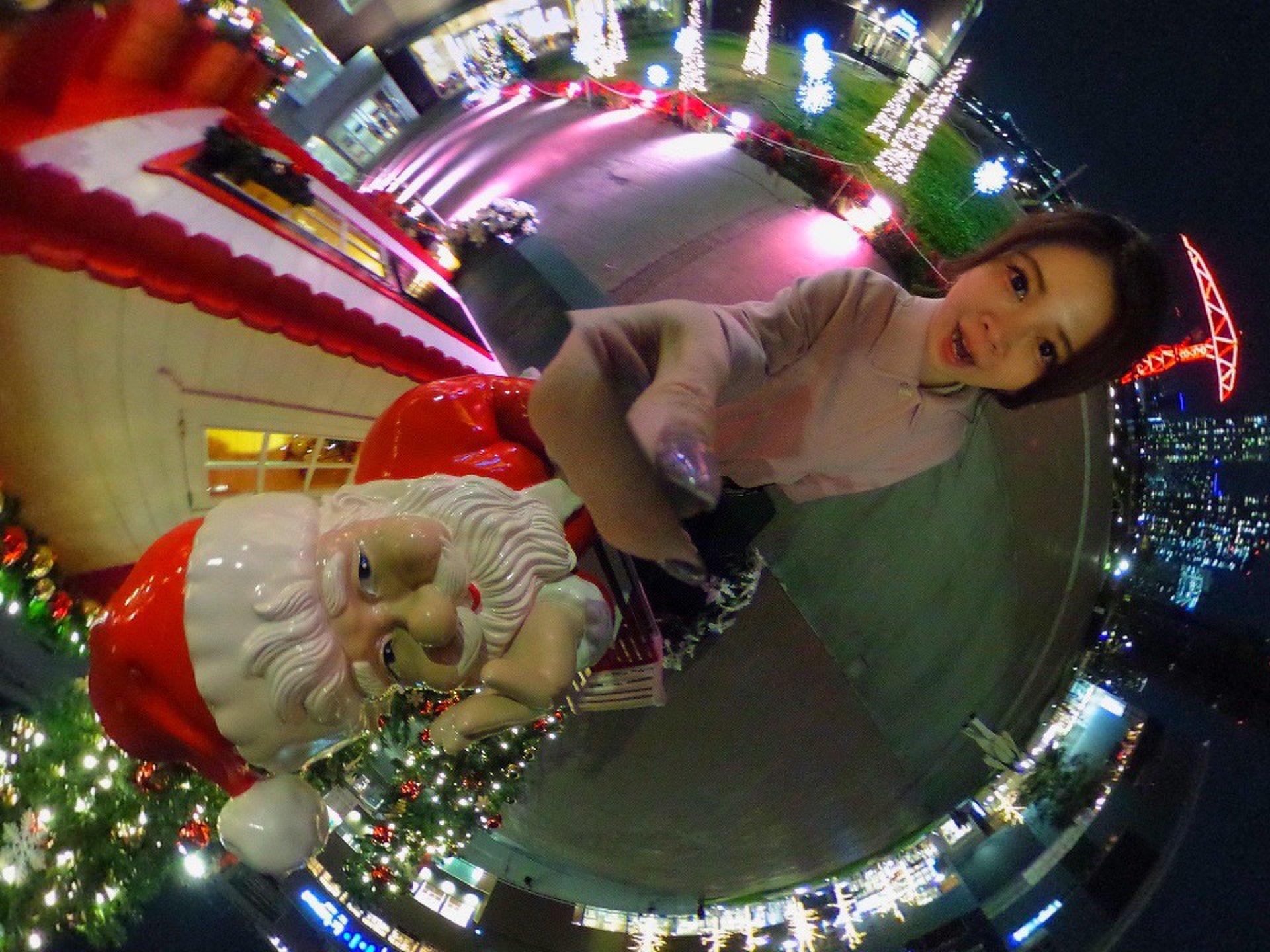 豊洲のイルミネーションを発見。可愛いクリスマスイルミと街並み♡おいしいご飯も食べて最高の夜♪