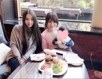 女子会♡ウェスティン恵比寿ロビーで美味しいバーガーとケーキ♡