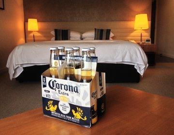 五つ星『シャングリラホテル』キングサイズベッド客室&宿泊者限定南国プール一挙公開❤︎