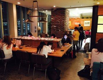 【新宿駅直結かつWi-Fi、コンセントあり!】ビジネスマン、学生に薦めたい駅近万能カフェ♪