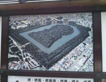 【前方後円墳】大阪観光をしよう!仁徳天皇陵を堺市役所から見る!