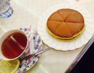 【本当にここ、大阪?】時が止まったような純喫茶アメリカンで一休み。名物ホットケーキもいただこう♡