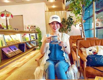 思わず笑顔になるドリップコーヒー。水戸芸術館内にあるまったりカフェサザコーヒーへ。
