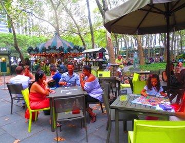 【ニューヨーク】公園でヨガ・チェス・ランチ!ブライアントパークでの過ごし方