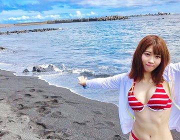 実は都内!羽田からたった50分の八丈島で海水浴からの温泉を楽しもう♡