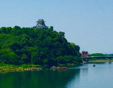 【犬山で楽しむ自然ウォーク】犬山城下町を歩いた後は木曽川遊歩道へ。そして犬山橋から犬山城を望む