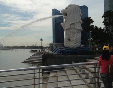 シンガポール旅行!! マーライオン・USS編