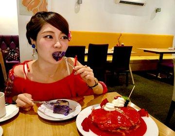 頼むか悩むやつ!ヨーグルストーリーのウベパンケーキ♡ワイキキ・アラモアナ周辺
