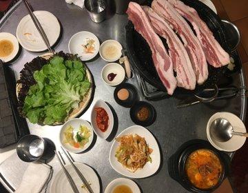 渋谷コスパ最安焼肉ディナー!?豚や道玄坂本店の1000円サムギョプサルのボリュームを見よ!