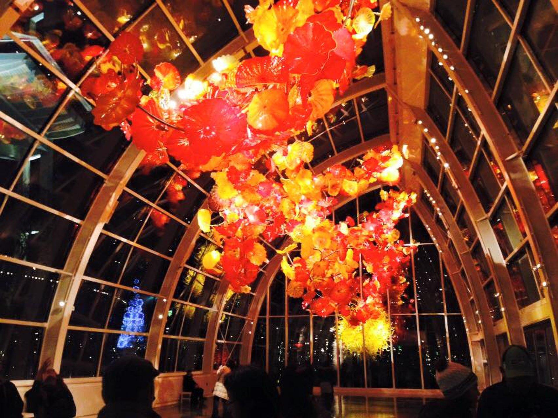 【アメリカ・シアトルで美しすぎる芸術】ガラス工芸の展示、CHIHULY(チフリー)