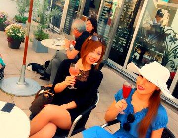表参道デート・女子会【可愛い穴場カフェ】テラスで昼からシャンパン!deux anges