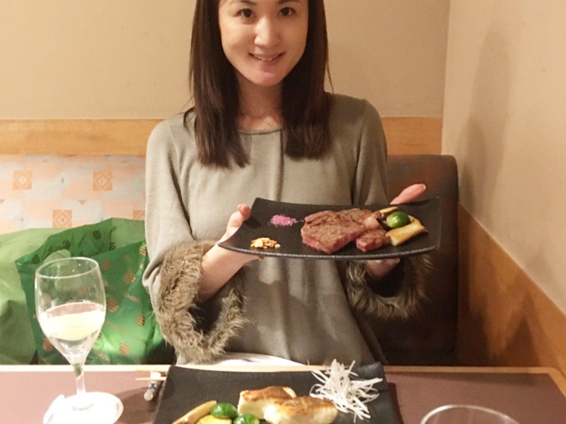 選べる和食⭐︎品川プリンスホテルメインタワー38階にある「味街道 五十三次」で鉄板焼☆彡