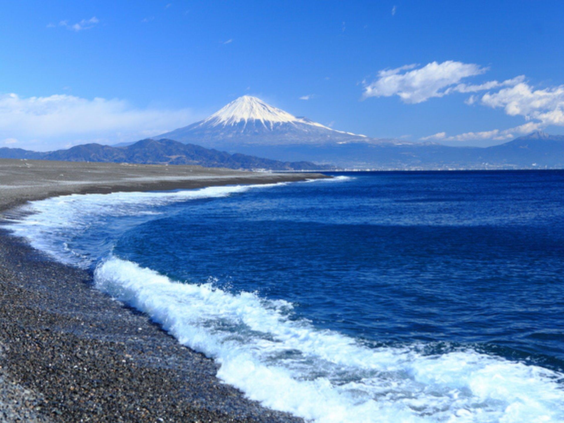 静岡県・清水でマグロを食し、世界遺産「三保の松原」で富士山【羽衣の松、エスパルス、ちびまる子】